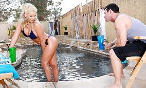 Milf at Pool Porn